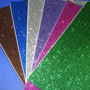 Öntapadós glitteres dekorgumi (A/4 méreta/1 db) - kék - vegyes alapanyag - Meska.hu
