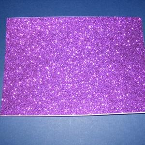 Öntapadós glitteres dekorgumi (A/4 méreta/1 db) - lila, Vegyes alapanyag,   Dekorgumi - glitteres - lila - A/4 méret - öntapadós  Az egyik legnépszerűbb és legolcsóbb alapany..., Meska