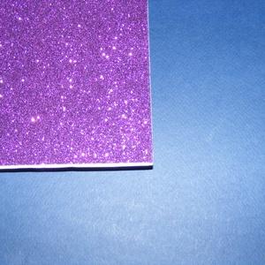 Öntapadós glitteres dekorgumi (A/4 méreta/1 db) - lila - vegyes alapanyag - Meska.hu