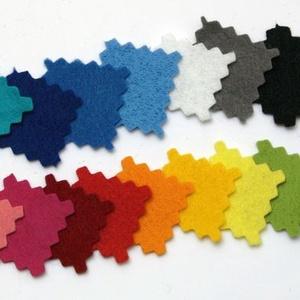 Dekorfilc (1,5 mm/kemény) - fenyőzöld - textil - Meska.hu