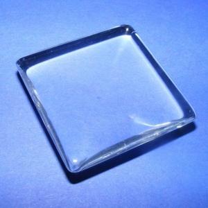 Üveglencse - 20x20 mm (929. minta/1 db) - négyzet  (csimbo) - Meska.hu