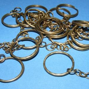Kulcskarika lánccal (469/D minta/1 db) - 25 mm  (csimbo) - Meska.hu