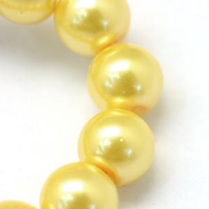 Viaszgyöngy-9 (Ø 4 mm/~ 230 db) - sárga - Meska.hu