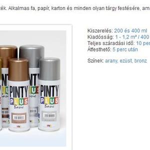 PINTY PLUS acryl festék spray (200 ml/1 db) - bronz (csimbo) - Meska.hu