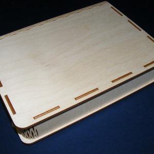 Könyv alakú gravírvágott fadoboz (22x18x4 cm/1 db) (csimbo) - Meska.hu