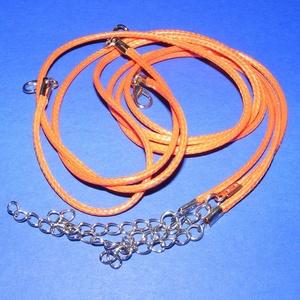 Bőrutánzat nyaklánc alap (7. minta/1 db) - narancssárga (csimbo) - Meska.hu