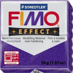 Fimo effect-602 (1 db) - csillámos lila, Vegyes alapanyag,  Fimo effect - 602 - csillámos lila  Mérete: 55x55 mmSúlya: 56 g  Felhasználási javaslat: Gyúrd át ..., Meska