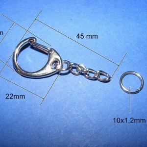 Kulcstartó lánccal (469/K minta/1 db) - 22 mm (csimbo) - Meska.hu