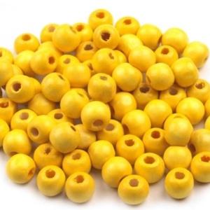 Festett fagyöngy-37 (Ø 8 mm/15 g) - sárga, Gyöngy, ékszerkellék,  Festett fagyöngy-37 - sárga  Mérete: Ø 8 mmFurat: 2 mm  Kiszerelés: 15 gA csomag tartalma: kb. 90 d..., Meska