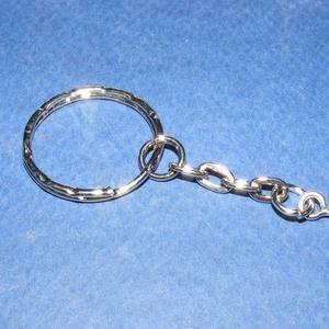 Kulcskarika lánccal (462/B minta/1 db) - 25 mm (csimbo) - Meska.hu