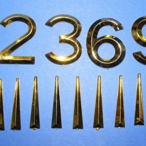 Arab számsor (109. minta/arany) - 30 mm - Meska.hu