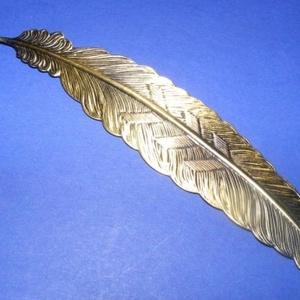 Könyvjelző (557. minta/1 db), Gyöngy, ékszerkellék,  Könyvjelző (557. minta) - bronz színben  Mérete: 114x23x2 mm  Az ár egy darab termékre vonatkozik...., Meska