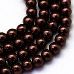 Viaszgyöngy-45 (Ø 6 mm/~ 150 db) - csokoládébarna - Meska.hu
