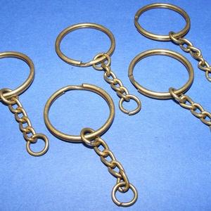Kulcskarika lánccal (469/AB minta/1 db) - 25 mm  (csimbo) - Meska.hu
