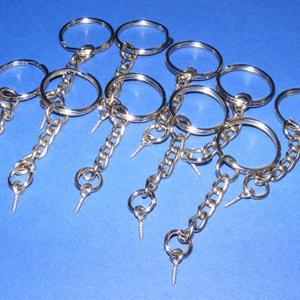Kulcskarika lánccal (462/A minta/1 db) - 20 mm (csimbo) - Meska.hu