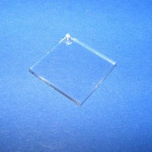 Akril medál alap-13/B (24x24 mm/1 db) - négyzet - fúrt, Műanyag,  Akril medál alap-13/B - négyzet - fúrtMérete: 24x24x2 mm  Az anyag víztiszta (mindkét oldala védőfó..., Meska