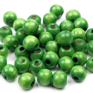 Festett fagyöngy-39 (Ø 8 mm/15 g) - zöld, Gyöngy, ékszerkellék,  Festett fagyöngy-39 - zöld  Mérete: Ø 8 mmFurat: 2 mm  Kiszerelés: 15 gA csomag tartalma: kb. 90 db..., Meska