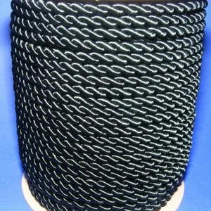 Sodrott zsinór - 6 mm (ZS71S/1 m) - méregzöld, Gyöngy, ékszerkellék,  Sodrott zsinór (ZS71S) - méregzöld  Színes nylon sodrott zsinórAjánlott karkötők, nyakláncok készít..., Meska