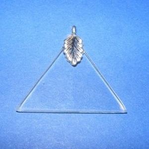 Üvegmedál-5 (35 mm/1 db) - háromszög - Meska.hu