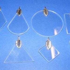 Üvegmedál-5/A (30 mm/1 db) - háromszög - Meska.hu