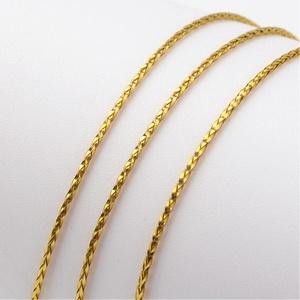 Metál kötözőzsinór (Ø 1 mm/1 m) - arany, Gyöngy, ékszerkellék, Ékszerkészítés,  Metál kötözőzsinór - arany   Rendkívül dekoratív, fényes arany színű fonott metál zsinór  Vastagsá..., Alkotók boltja