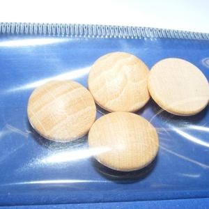 Falencse (Ø 15 mm/4 db) - natúr, Cabochon,    Lencse alakú fagomb - natúr Mérete: Ø 15 mmAnyaga: natúr fa, nem pácolt, nem kezelt   Az ár 4 dar..., Meska
