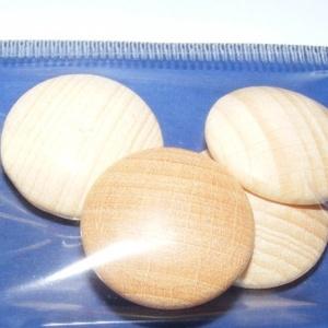 Falencse (Ø 20 mm/4 db) - natúr, Cabochon,    Lencse alakú fagomb - natúr Mérete: Ø 20 mmAnyaga: natúr fa, nem pácolt, nem kezelt   Az ár 4 dar..., Meska