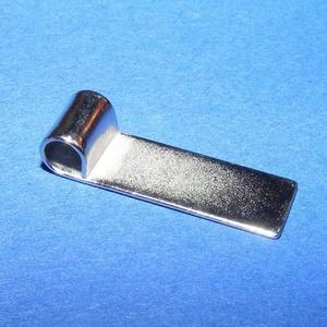 Medálrögzítő (352/K minta/1 db), Gyöngy, ékszerkellék,  Medálrögzítő (352/K minta) - ragasztható - platinum színben  Mérete: 20x6 mmA lyuk mérete: 3 mm  Az..., Meska