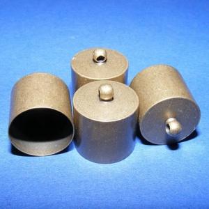 Bőrvég (42 minta/1 db) - 16x14 mm, Gyöngy, ékszerkellék,  Bőrvég és szalagvég (42 minta) - antik bronz színben  Mérete: 16x14 mm Belső átmérő: 13,5 mm  Az ár..., Meska