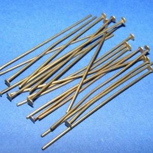 Szerelőpálca (1055. minta/20 db) - 50 mm, Gyöngy, ékszerkellék, Ékszerkészítés,  Szerelőpálca (1055. minta) - antik bronz színben - talpas  Mérete: 50 mm Az ár 20 db termékre von..., Alkotók boltja