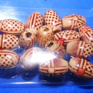 Mintás fagyöngy-4 (13x8 mm/15 db) - mintás hordó, Gyöngy, ékszerkellék, Gyöngy, \nMintás fagyöngy-4 - hordó\n\nMérete: 13x8 mmFurat: 3 mm\n\nA csomag tartalma: 15 db gyöngy\nAz ár egy cs..., Meska