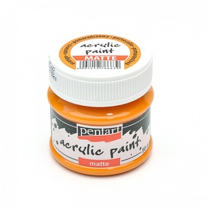 Pentart akrilfesték (100 ml/1 db) - narancssárga (matt) - Meska.hu