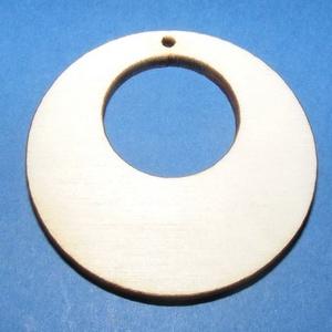 Fa fülbevaló alap (10. minta/1 db), Gyöngy, ékszerkellék,  Fa fülbevaló alap (10. minta) - körben kör  Mérete: 4 cmAnyaga: rétegelt lemezAnyagvastagság: 3 mm ..., Meska