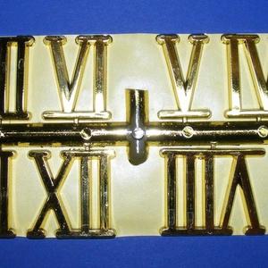 Római számsor (105. minta/arany) - 30 mm, Számok, betűk, Mindenmás, \nSzámsor (105. minta) - arany - római számok - öntapadós\n\nMérete: 30 mm\nAz ár egy készletre vonatkoz..., Meska