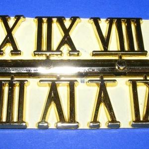 Római számsor (102. minta/arany) - 20 mm, Számok, betűk, Mindenmás, \nSzámsor (102. minta) - arany - római számok - öntapadós\n\nMérete: 20 mm\n\nAz ár egy készletre vonatko..., Meska