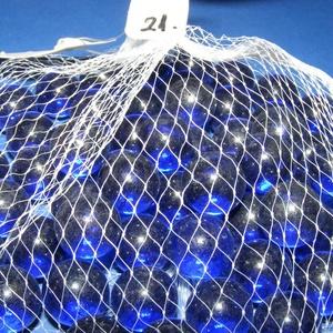 Üveggolyó-21 (kb. 50 db/csomag) - kék, Vegyes alapanyag, Mindenmás,        Üveggolyó-21 - kék Golyók mérete: Ø 1,5 cm   Ennek a maga egyszerűségében szép retro játékna..., Alkotók boltja