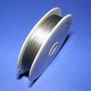 Tigrisbajusz (Ø 0,45 mm/1 db) - ezüst (100 m), Gyöngy, ékszerkellék, Drót, Ékszerkészítés, Fűzőszál,  Tigrisbajusz - ezüst színű  Kiváló minőségű fűzésre alkalmas sodrony. Egy tekercsen kb. 100 méter ..., Alkotók boltja