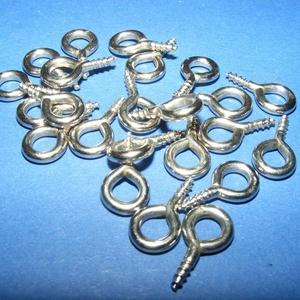 Szemes csavar (1061/B minta/10 db) - 8x15 mm, Csat, karika, zár, Mindenmás, \n\nSzemes csavar (1061/B minta) - ezüst színben\n\nA terméket elsősorban süthető gyurma ékszerekhez ajá..., Meska