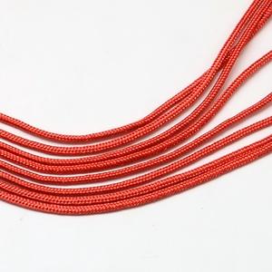 Paracord zsinór-360 (2 mm/1 m) - piros - gyöngy, ékszerkellék - Meska.hu