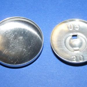 Fém gomb alap (3. méret/1 db) - gomb - Meska.hu
