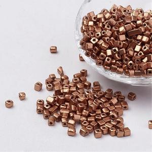 Szögletes gyöngy (14. minta/15 g) - metál bronz - Meska.hu
