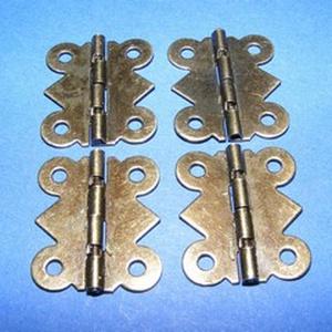Zsanér (11. minta/1 db) - kis pillangó, Csat, karika, zár, Mindenmás, \n\nZsanér (11. minta) - kicsi pillangó - antik bronz színben\n\nA zsanér mérete (nyitottan): 20x24 mmA ..., Meska