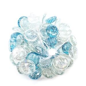 Üvegkavics-1/K (250 g) - átlátszó-vil.kék, Vegyes alapanyag, Mindenmás, \n\n\n\n\nÜvegkavics1/K- átlátszó-vil.kék\nA lencsék mérete: 2 cmKiszerelés: kb. 3250 g\n\n\nTöbbféle színben..., Meska