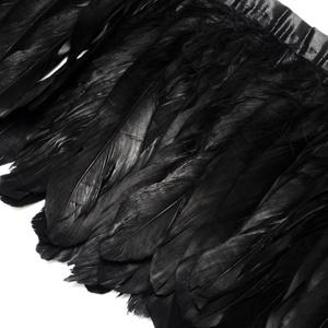 Dekorációs indián toll-113 (10 db) -nagy  fekete, Vegyes alapanyag, Mindenmás, Alkotók boltja