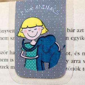 I love ANIMALS -mini MÁGNESES könyvjelző 1 db, Naptár, képeslap, album, Otthon & lakás, Könyvjelző, Fotó, grafika, rajz, illusztráció, Papírművészet, Minden állatbarátnak állatvédőnek. \nSzeretem az állatokat, MINI mágneses könyvjelzőben, a figura saj..., Meska