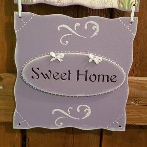 Sweet home, levendulás köszöntő tábla (csinaldmesike) - Meska.hu
