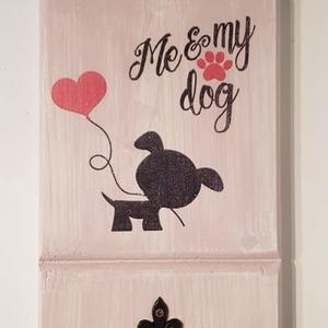 Kutya póráz tartó, Otthon & lakás, Decoupage, transzfer és szalvétatechnika, Rózsaszín cukiság, kutyapóráztartó. Több színben és méretben el tudom készíteni. Illetve nem csak k..., Meska