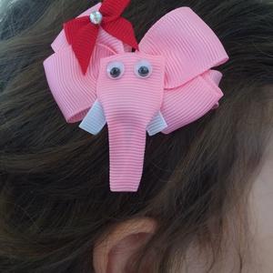 Rózsaszín elefánt hajcsat (RibbonLove) - Meska.hu