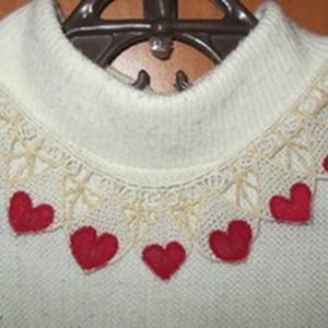 Női nyakkivágás, rátét varrott csipke (Hungarian needle lace) (csipkevarro) - Meska.hu