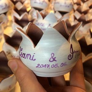 Köszönőajándék esküvőre 1 db!!!, Köszönőajándék, Emlék & Ajándék, Esküvő, Kerámia, 1 db!!-ra vonatkozik az ár!!!!\n\n\nKöszönőajándék- ültető- hangulatos világítás- virágmécses felíratta..., Meska